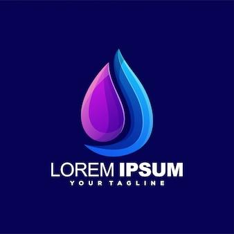 Oil color logo design