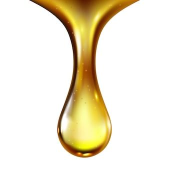 オイルドロップ石油エンジン潤滑液