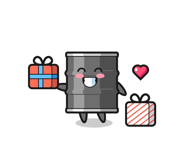 선물, 귀여운 디자인을주는 오일 드럼 마스코트 만화