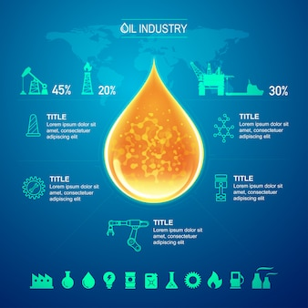 Oil and gas industry for infographic template