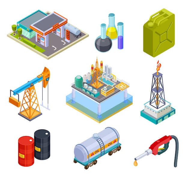 Oil gas industry isometric