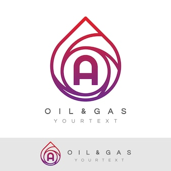 Oil and gas initial letter a logo design
