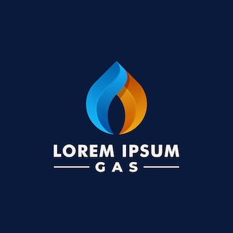 Oil and gas logo design. fire logotype