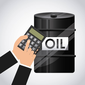 Oil inductry economy icons