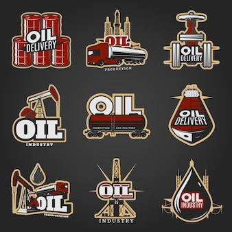Oil industry colorful logos