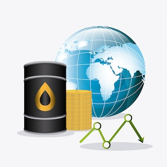 Oil industry design.