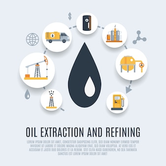 Нефтяной промышленности плоский значок