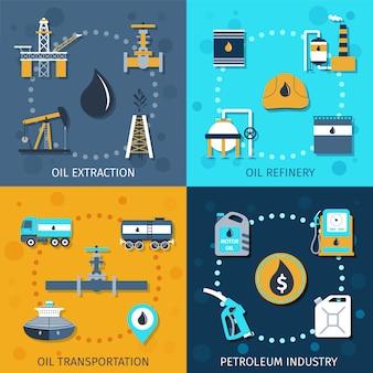 석유 산업 세트