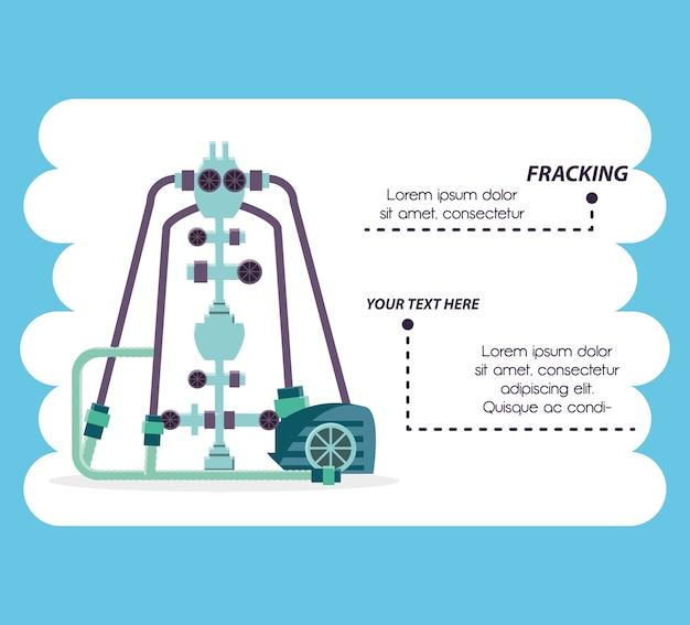 Нефтяная промышленность с технологией fracking