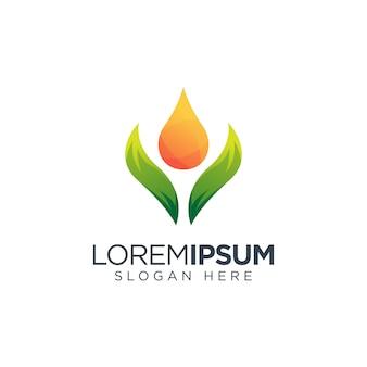Oil leaf logo