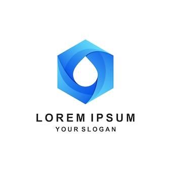 Нефть логотип значок геометрические красочные Premium векторы