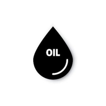 Oil or petrol drop droplet flat vector icon for apps and websites