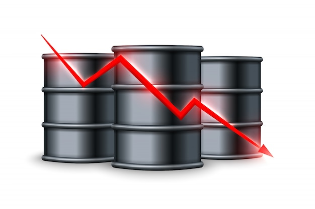 Oil price drop.  illustration