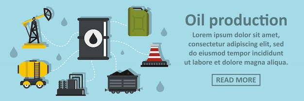 Oil production banner horizontal concept