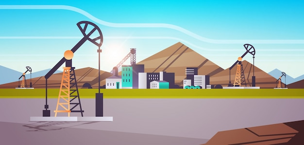 Oil pump rig energy industrial zone oil drilling fossil fuels production