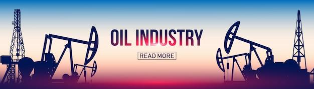 Oil pump silhouette, field pumpjack, rig drill.