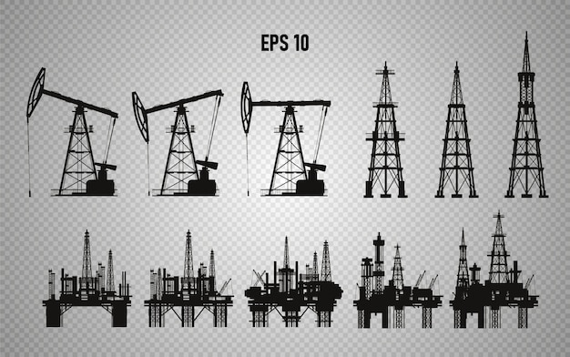 Oil rigs. oil production. illustration.
