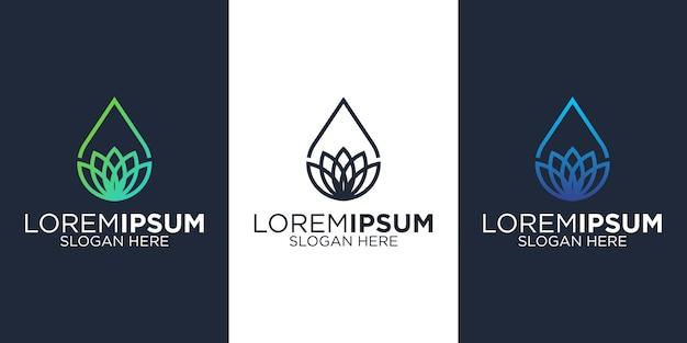 Oil spa logo design templates