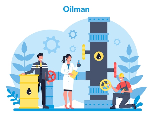 Oilman and petroleum industry concept