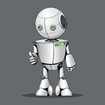 Okを表示する面白い子供のロボット。
