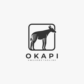 Okapi with box illustration logo.