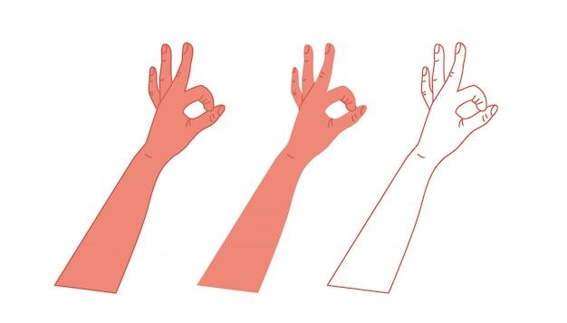 Okay gesture hand.