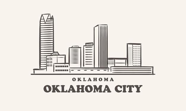 Оклахома-сити горизонт оклахома обращается эскиз