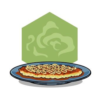 Вкусная японская кухня okonomiyaki