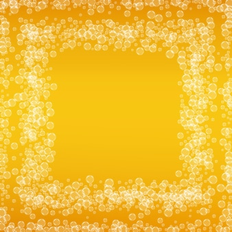 Oktoberfest background. beer foam. craft lager splash. froth pint of ale with realistic bubbles. cool liquid drink for bar. yellow flyer layout. golden jug for oktoberfest foam.