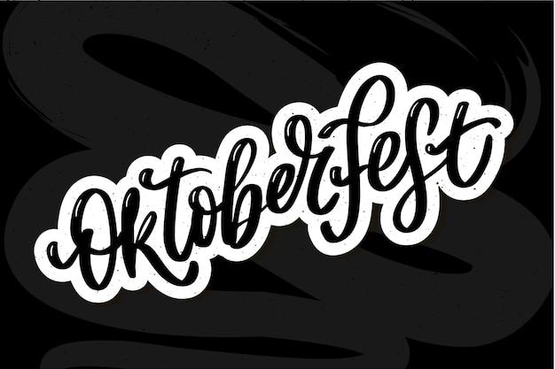 Oktoberfest background. happy oktoberfest lettering typography.