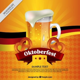 Oktoberfest background of refreshing beer