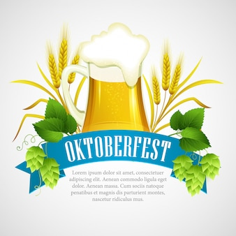 Октоберфест фон с пивом.