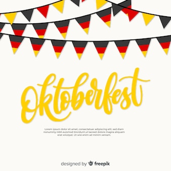 Oktoberfest background with colorful garlands