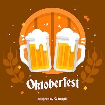 Oktoberfest background with flat jars