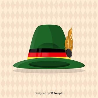 Oktoberfest background with tirol hat in flat design