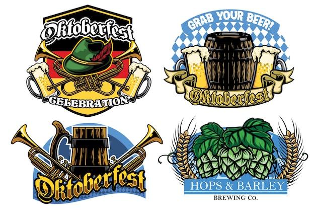 Oktoberfest badge design collection