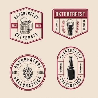 Коллекция логотипов oktoberfest badge