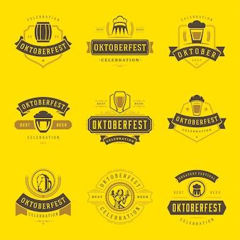 Oktoberfest badges and logos set