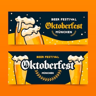 Banner design dell'oktoberfest