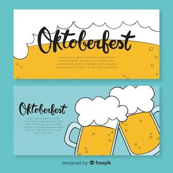Oktoberfest banners in flat design