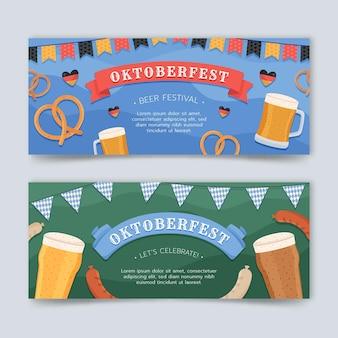 Oktoberfest banners set