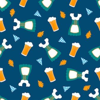 옥토버페스트 바이에른 축제 원활한 패턴 옥토버페스트 바이에른 축제 원활한 패턴 trad