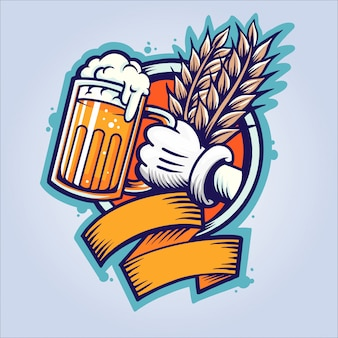 Oktoberfest beer addict