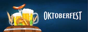Концепция фестиваля пива Октоберфест.