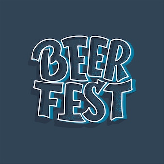 Надпись фестиваля пива октоберфест. Premium векторы