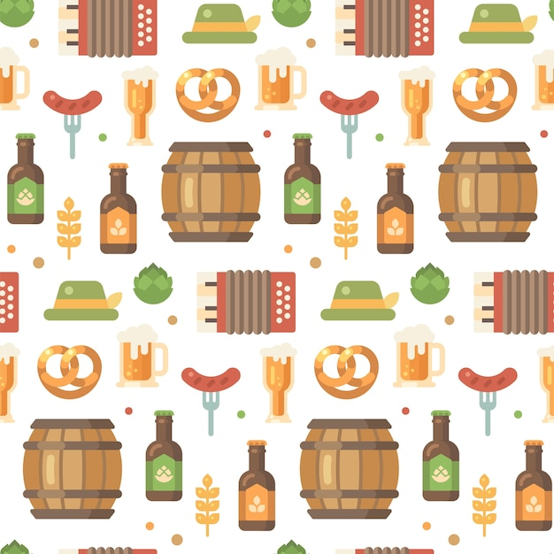 Oktoberfest beer festival pattern