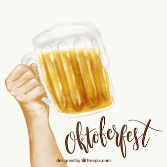 Oktoberfest, beer with lettering