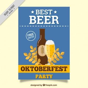 Oktoberfest brochure in vintage style