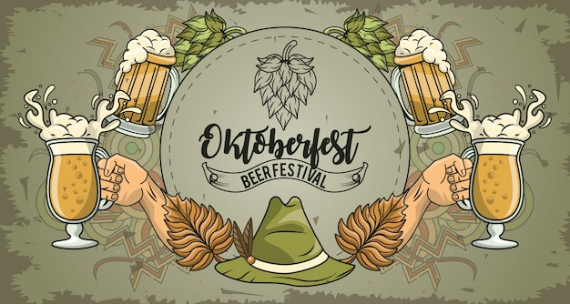Oktoberfest celebration, beer festival design