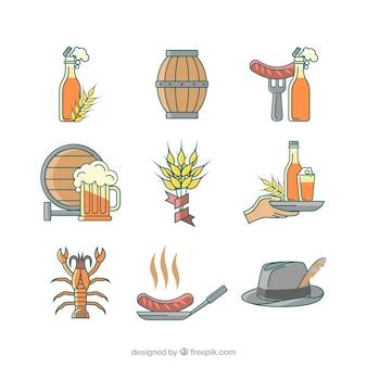 Oktoberfest celebration elements